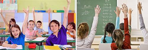 День знаний ! Обчение за границей ! Ученики в классе частной школы